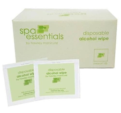 HAWLEY INTERNATIONAL - Spa Essentials Disposable Alcohol Wipes 100pk