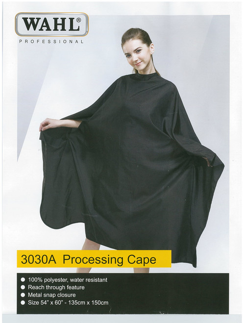 WAHL - 100% Polyester Processing Cape - Black