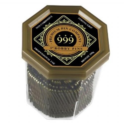 "999 PREMIUM PINS - Bobby Pins 3"" Bronze"