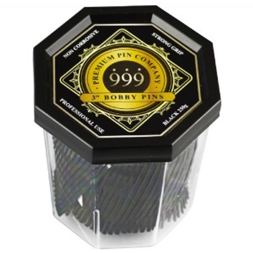 "999 PREMIUM PINS - Bobby Pins 3"" Black"