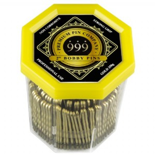 "999 PREMIUM PINS - Bobby Pins 2"" Gold"