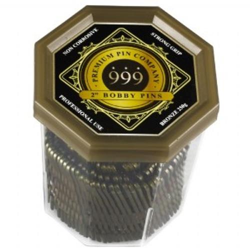 "999 PREMIUM PINS - Bobby Pins 2"" Bronze"