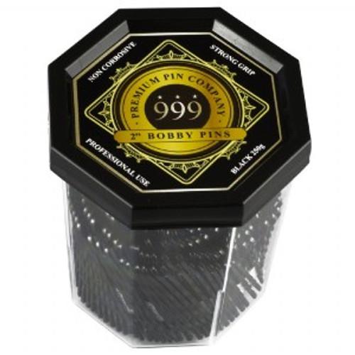 "999 PREMIUM PINS - Bobby Pins 2"" Black"