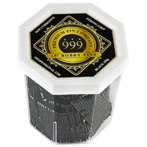 "999 PREMIUM PINS - Bobby Pins 1.5"" Black"
