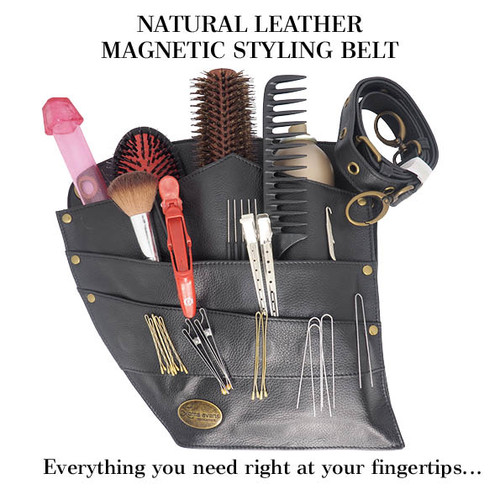 Lorna Evans Hair - Magnetic Styling Belt - Natural Leather