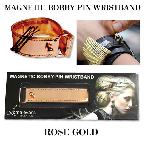 Lorna Evans Hair - Magnetic Bobby Pin Wristband - Rose Gold