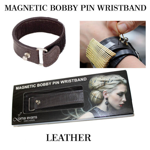 Lorna Evans Hair - Magnetic Bobby Pin Wristband - Natural Leather