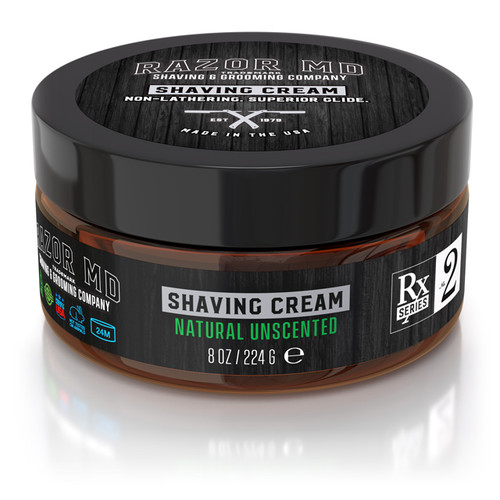 RAZOR MD - Shaving - Shaving Cream - Natural Unscented 224g