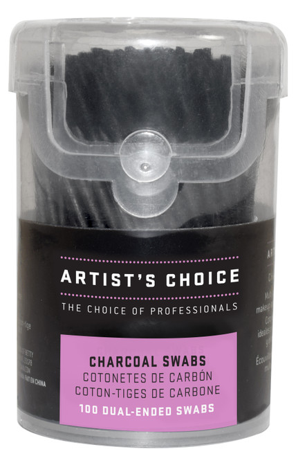 ARTIST'S CHOICE - Charcoal Swabs - 100 Pack