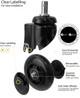 JOIKEN - Trolley - Fusion - Click N Clean Castor Wheels
