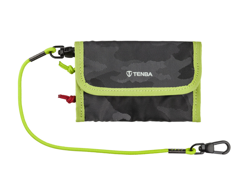 Tenba Tools Reload Universal Card Wallet - Black Camouflage/Lime