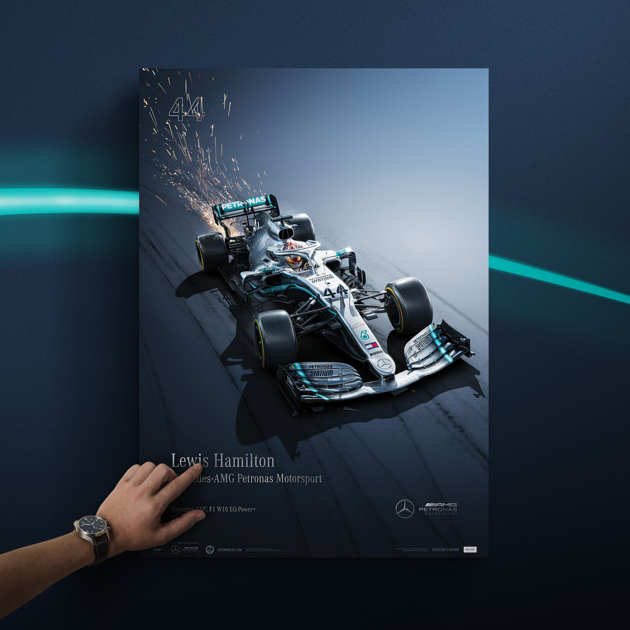 Lewis Hamilton Mercedes 2014  F1 Signed Limited Edition Print
