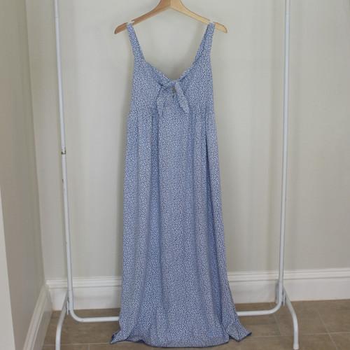 Long Leaf Print Dress