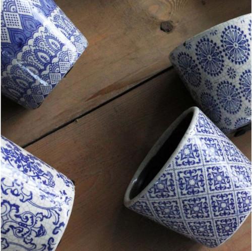 Blue Pattern Costas Pot