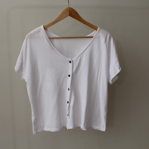 T-Shirt with Button Detail