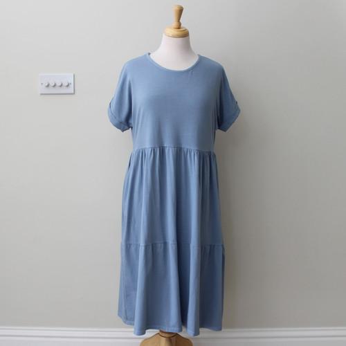 Short Sleeved Tiered Dress