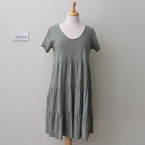 Short Polka Dot Tiered Dress