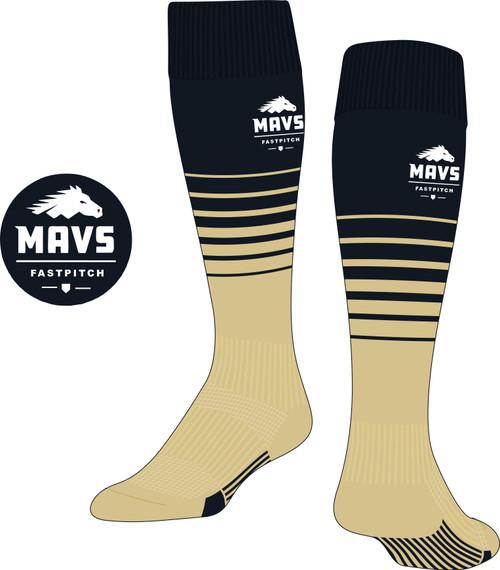 Mavericks Fastpitch Custom Socks (CUST)