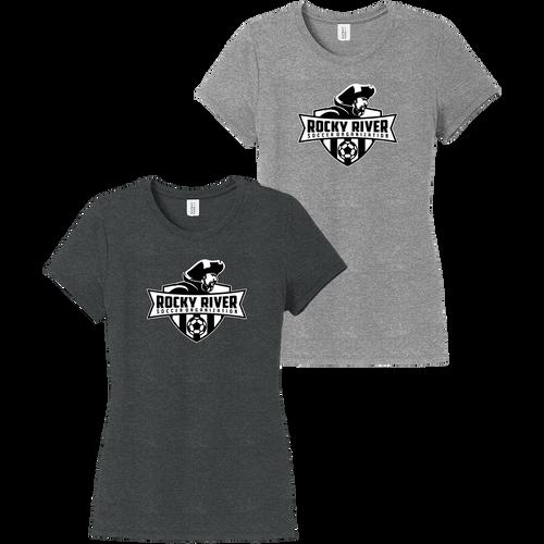 Rocky River Soccer Organization Ladies Perfect Tri Tee (F014)