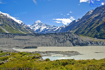 Aoraki Mt  Cook & THe Mueller Glacier Terminal Lake