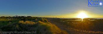 Sunset At The Wiawhakaio River Mouth