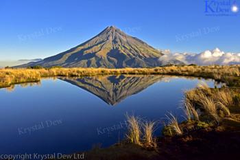 Mt Egmont/Taranaki reflected in Pouakai tarn
