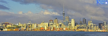 Auckland waterfront at dawn