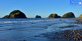 Back beach & the Sugarloaf Islands