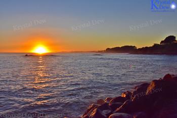 Sunrise From The Lee Breakwater