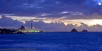 New Plymouth At Dusk