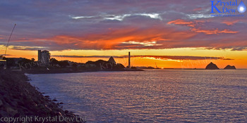 Sunset From The New Plymouth Foreshore