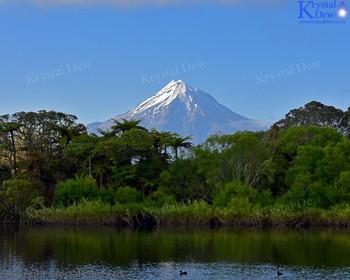 Taranaki From Lake Mangamahoe