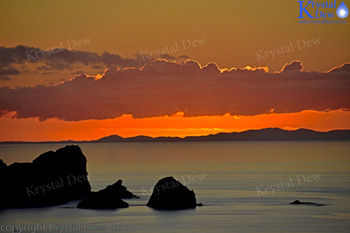 sunset from Glenfern Sanctuary lloking over port Fitzroy