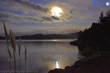 Lake Rotama By Moonlight