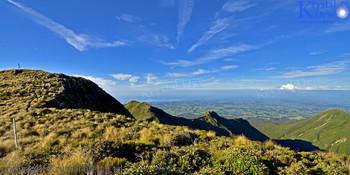 Pouakai ranges and view over Taranaki