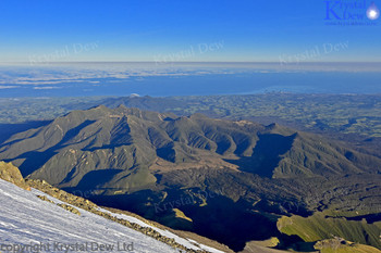 Pouakais & Kaitake ranges from north ridge of Taranaki