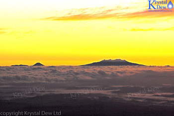 Ruapehu at dawn from Taranaki