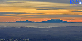Ruapehu at sunrise from Taranaki