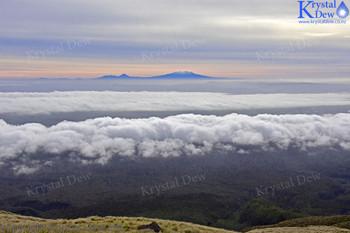 Ruapehu, Ngarahoe & Tongariro  from Taranaki