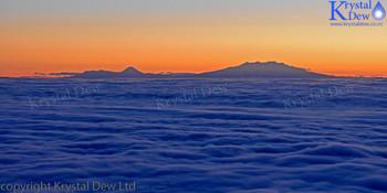 Ruapehu, Ngarahoe & Tongariro At Sunrise