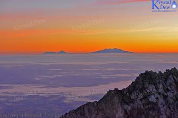 Sunrise From Summit of Taranaki