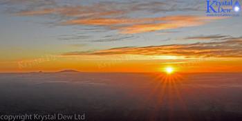 Sunrise from north ridge of Taranaki