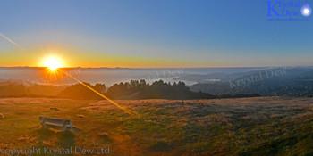 Sunrise Over Wellington from Mt Kau Kau