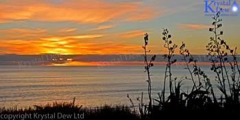 Sunset at Tongaporutu