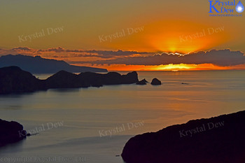 sunset from Glenfern Sanctuary looking over port Abercrombie