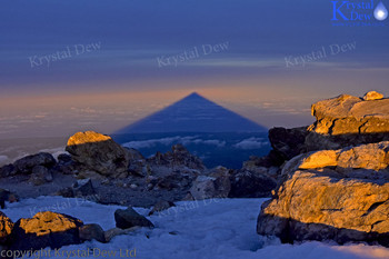 Taranaki shadow at dawn