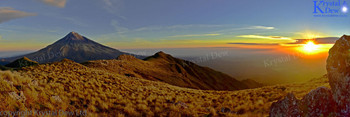 Sunset from Pouakai peak