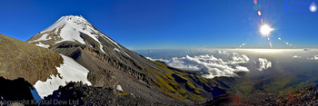 Taranaki summit from Fanthems peak