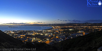 Petone & Lowerhutt Lights At Night