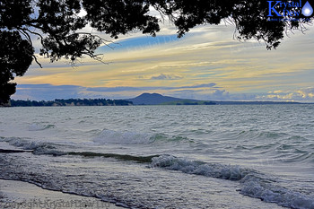 Rangitoto Island From Mellons Bay Reserve
